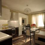 cuisine salon 15 m2 design intérieur