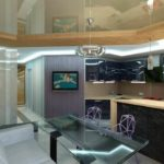 cuisine séjour salon 15 m2 plan photo