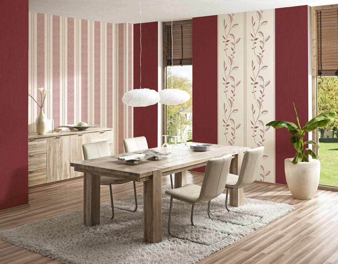 một ví dụ về một thiết kế khác thường của giấy dán tường cho phòng khách