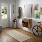l'idée d'un décor insolite du couloir d'une chambre dans une maison privée photo