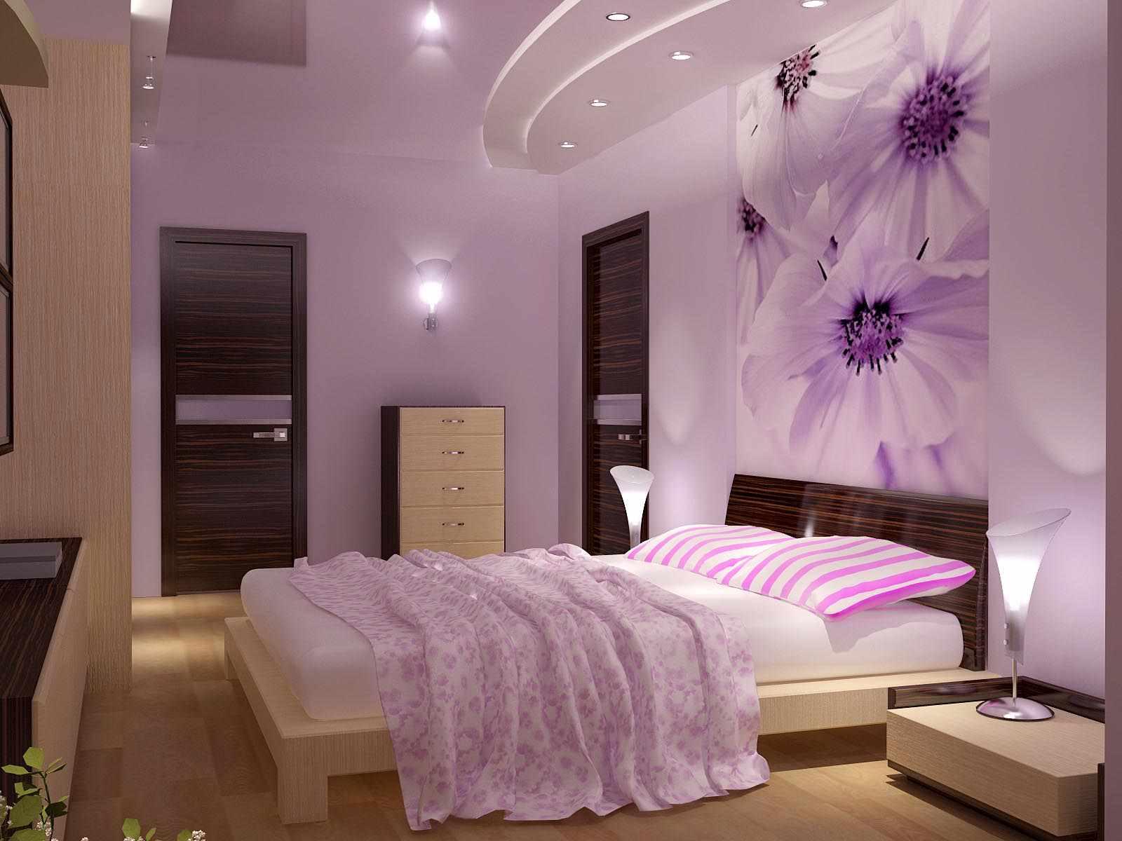 option d'un décor lumineux d'une chambre