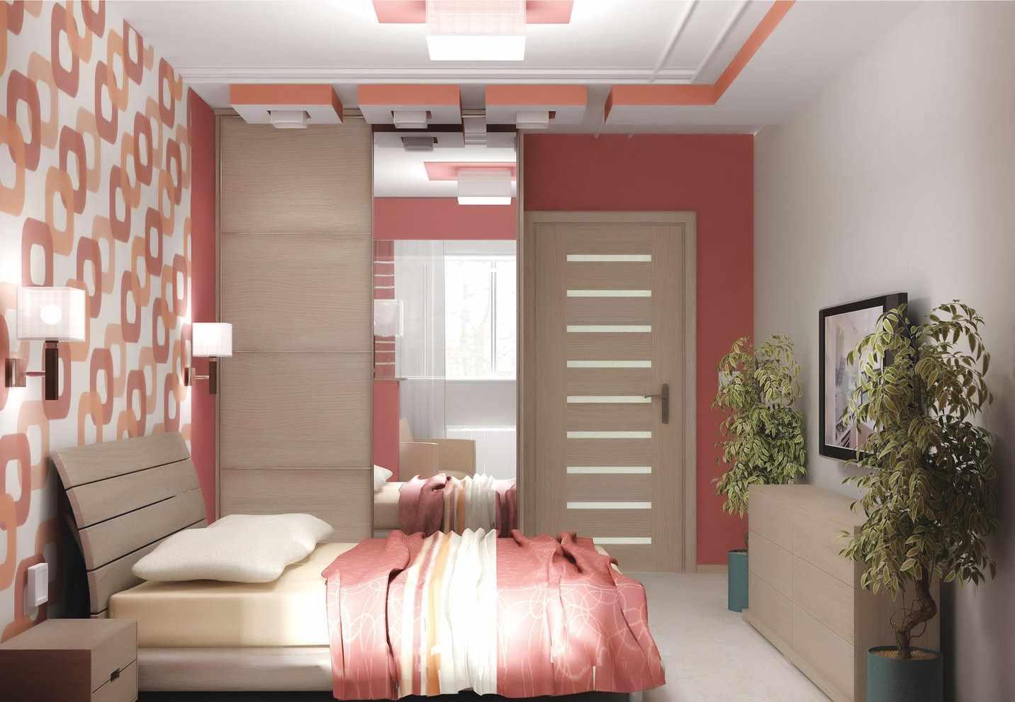idée d'un décor clair d'une chambre étroite