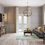 ý tưởng về một phong cách khiêu khích khác thường trong bức tranh phòng khách