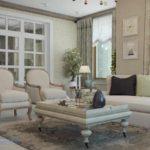 tùy chọn trang trí ánh sáng provence trong ảnh phòng khách
