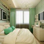 l'idée d'une belle chambre étroite photo design
