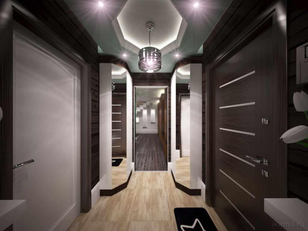 idée d'un beau couloir intérieur dans une maison privée