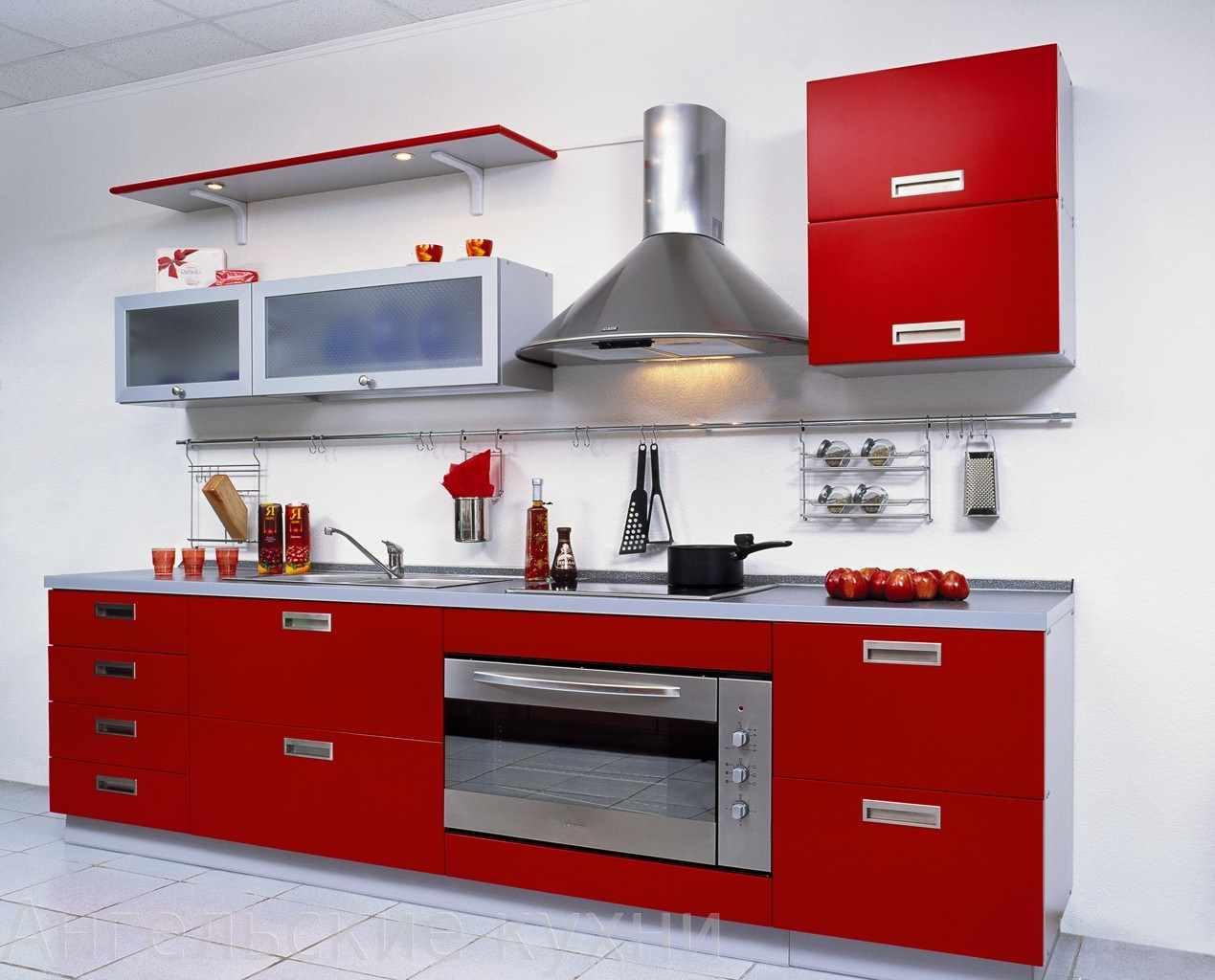 un exemplu de design neobișnuit al unei bucătării roșii