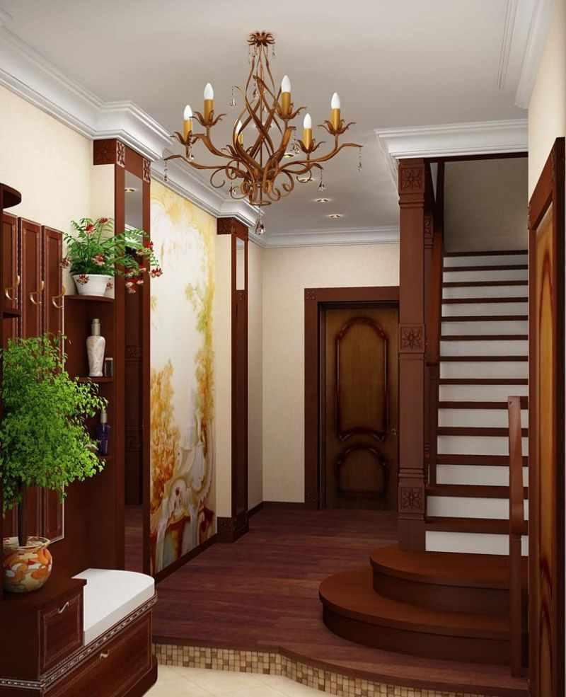 variante de la conception lumineuse du couloir dans une maison privée