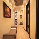 idée d'un décor clair d'un couloir dans une maison privée photo