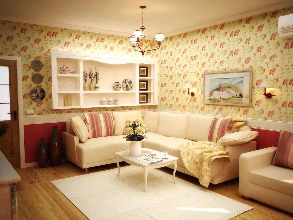 ý tưởng thiết kế provence đẹp trong phòng khách
