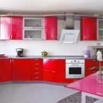 idee de fotografie neobișnuită de design roșu de bucătărie