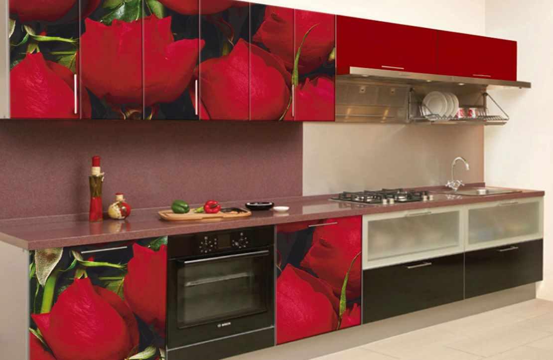 variantă de decor luminos din bucătăria roșie