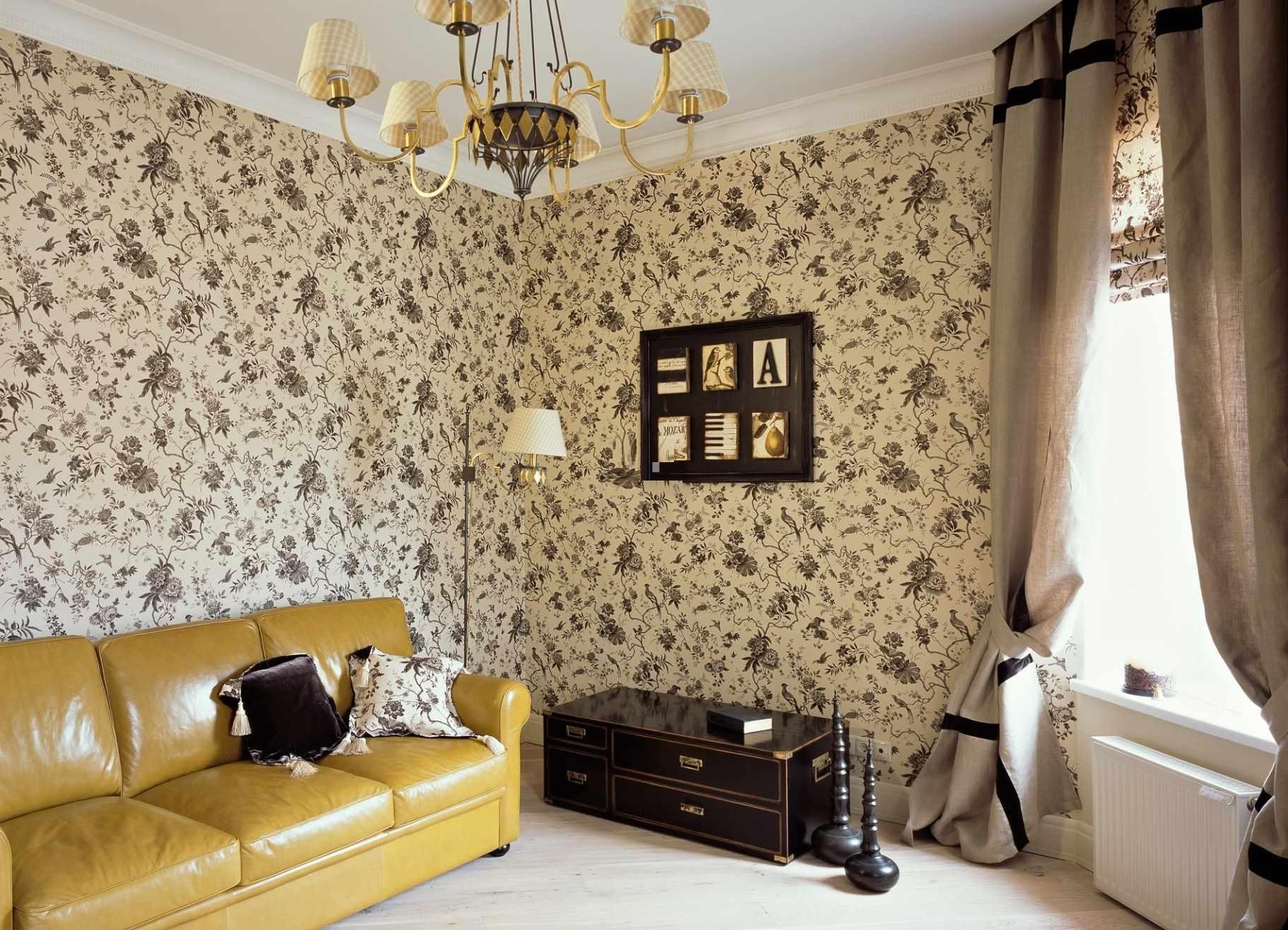phiên bản thiết kế khác thường của giấy dán tường cho phòng khách