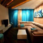 Un exemple d'un intérieur lumineux d'une photo d'une chambre étroite