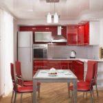opțiune ușoară fotografie roșie bucătărie