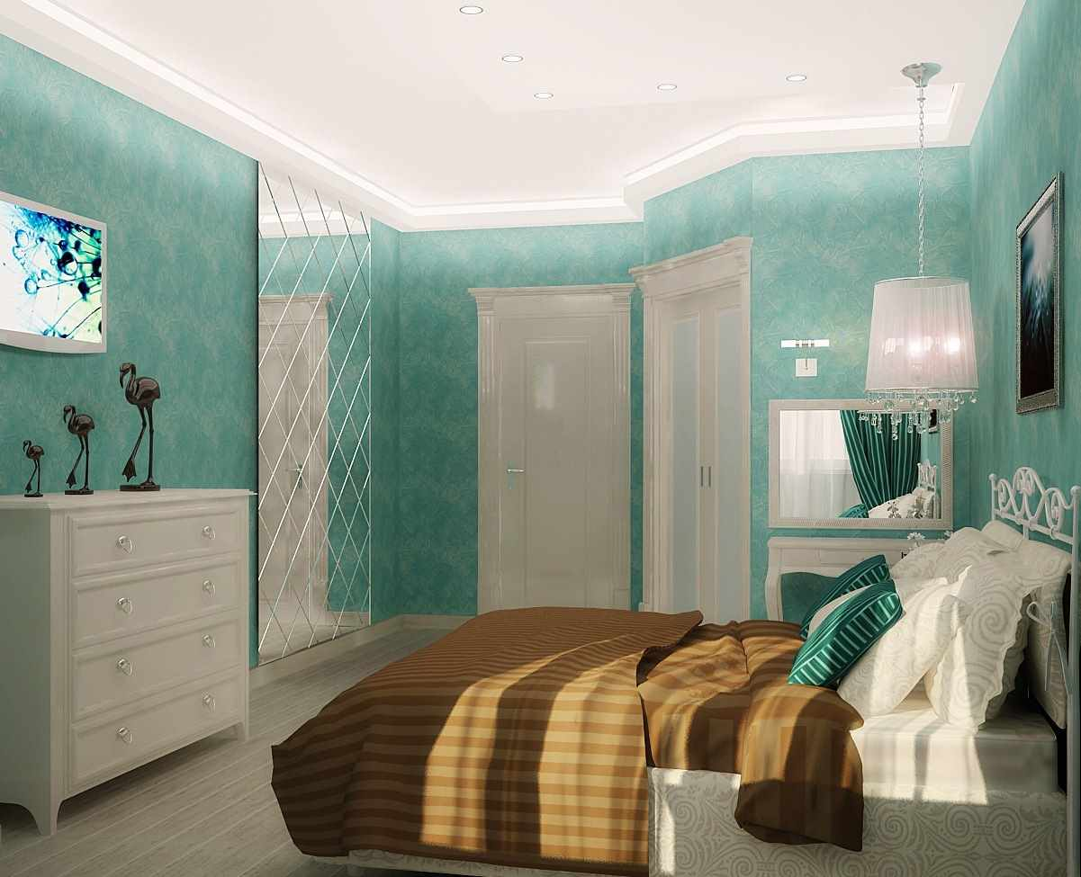 un exemple d'un beau décor d'une chambre étroite