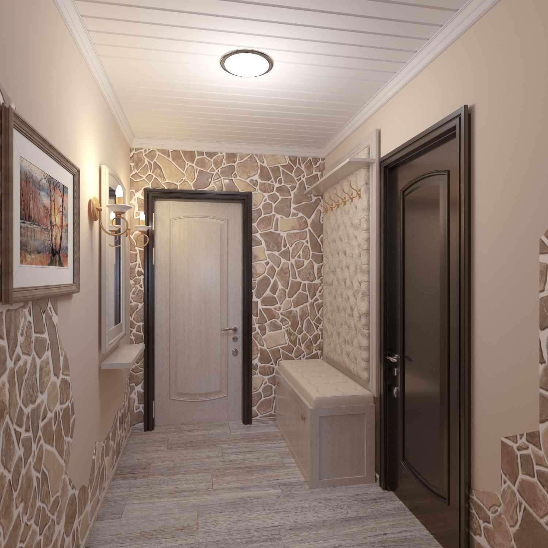 variante du décor lumineux du couloir dans une maison privée