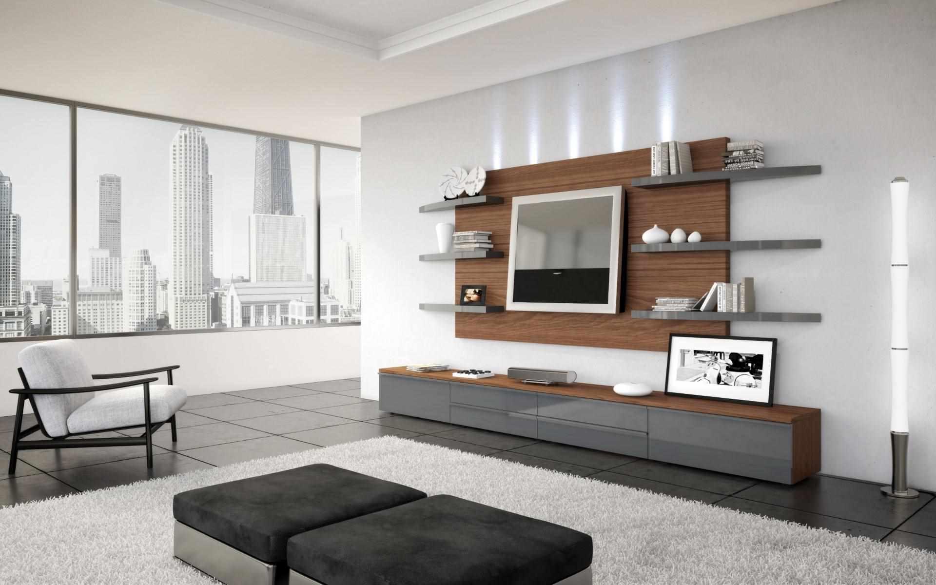 Ý tưởng hình nền thiết kế tươi sáng cho phòng khách