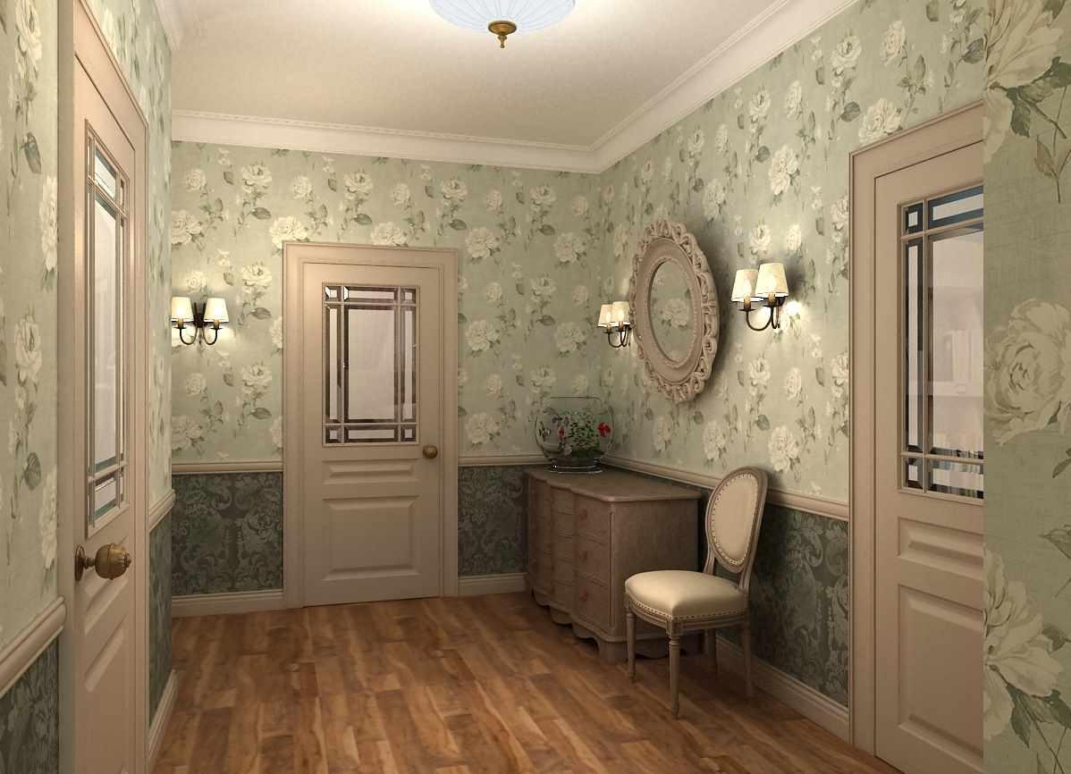 idée d'un style inhabituel d'un couloir dans une maison privée