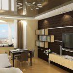 Một ví dụ về hình nền trang trí ánh sáng cho ảnh phòng khách