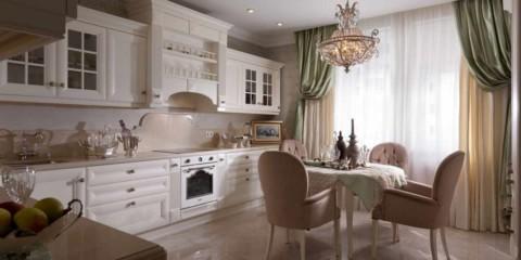 variantă a interiorului luminos al fotografiei din bucătărie