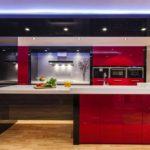 versiune a frumosului design al imaginii de bucătărie roșie
