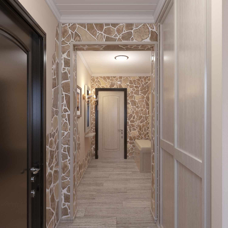 Un exemple d'un beau couloir intérieur dans une maison privée