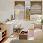 Un exemple d'un beau style d'une photo de chambre étroite