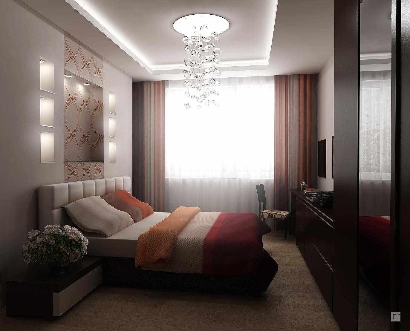 Un exemple du style léger d'une chambre étroite