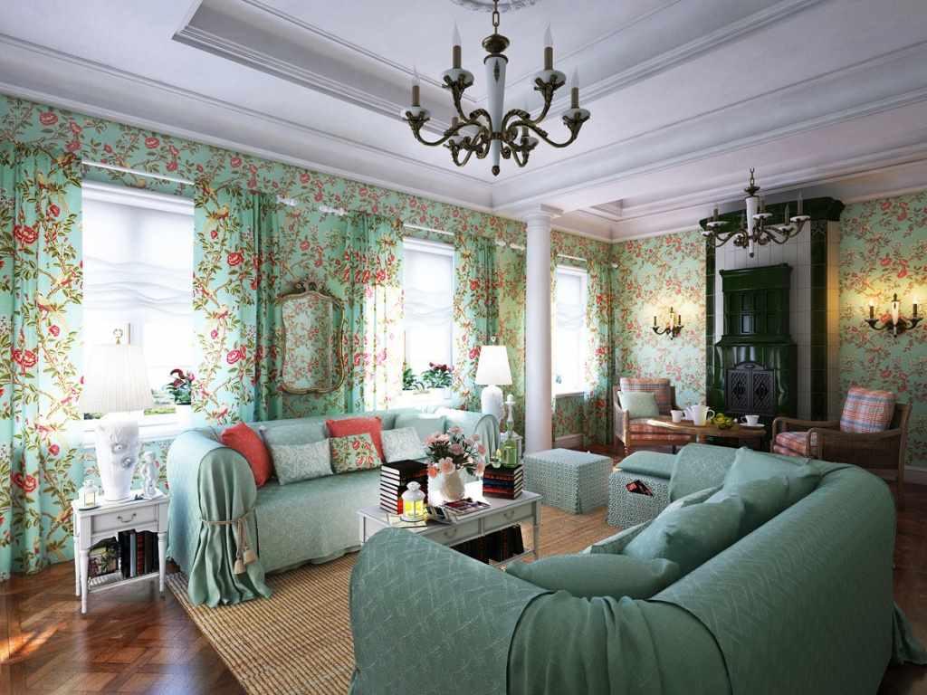 tùy chọn nội thất sáng sủa trong phòng khách