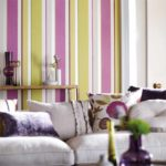version du papier peint intérieur lumineux pour la photo du salon