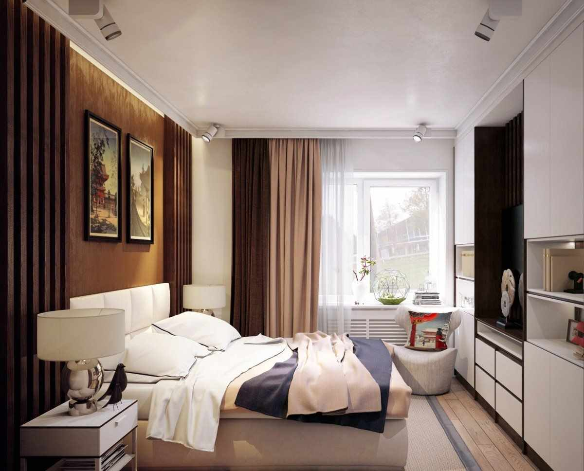 un exemple de style insolite d'une chambre de 15 m²