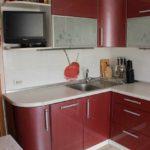 versiunea proiectării ușoare a fotografiei de bucătărie roșie
