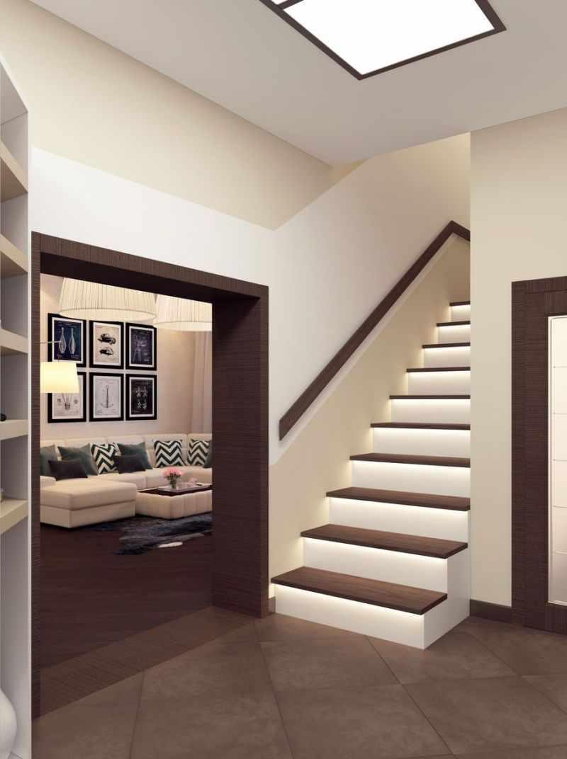 version du design lumineux du couloir dans une maison privée