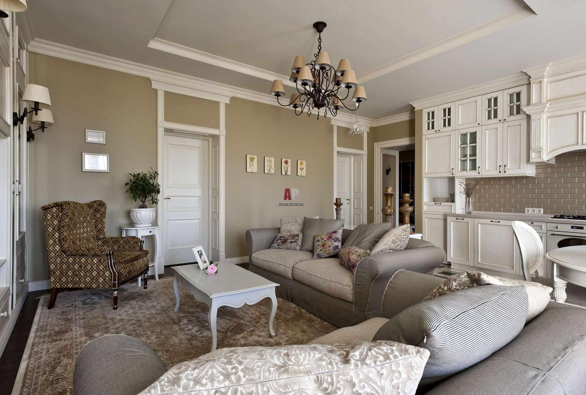 Một ví dụ về trang trí Provence đẹp trong phòng khách