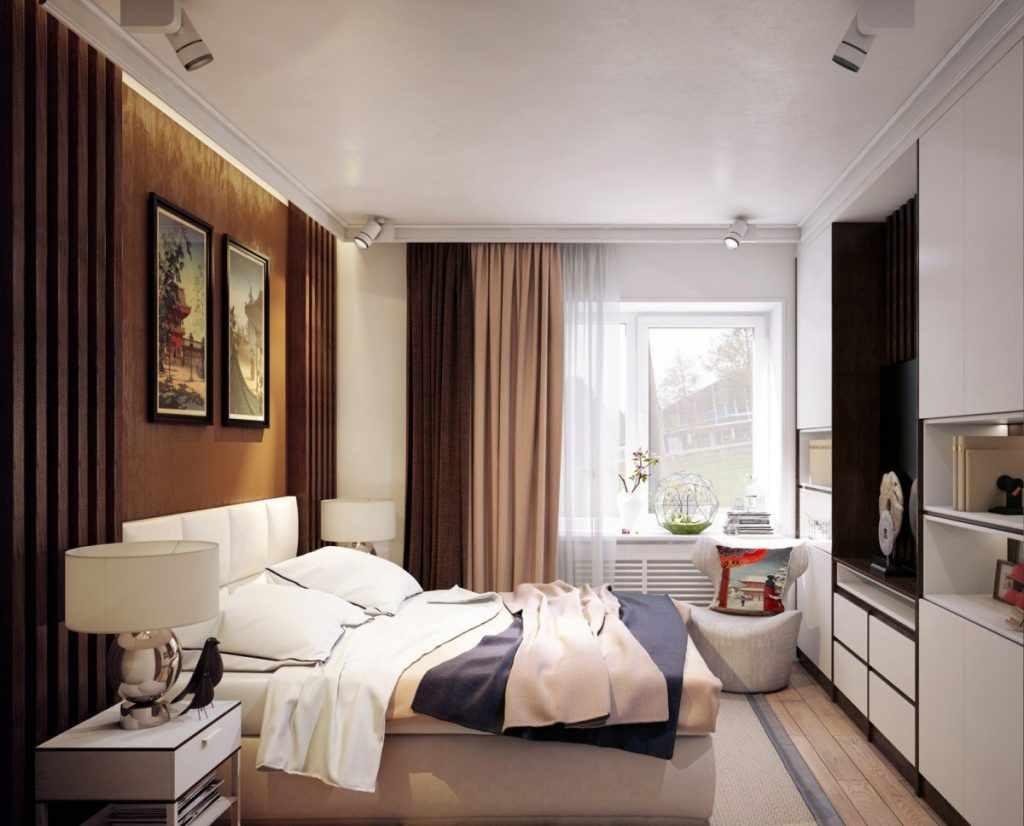 variante du design lumineux de la chambre étroite