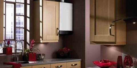 version du style lumineux de la cuisine avec une chaudière à gaz photo