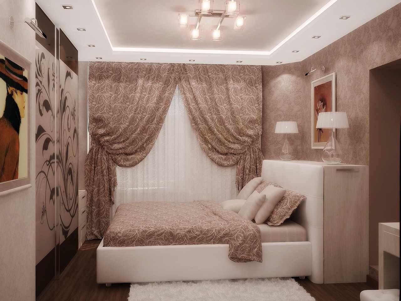 Un exemple d'un décor lumineux d'une chambre étroite