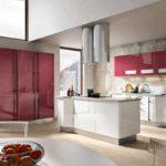idee de un interior neobișnuit de fotografie de bucătărie roșie