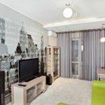 ý tưởng về một phong cách tươi sáng của giấy dán tường cho bức ảnh phòng khách