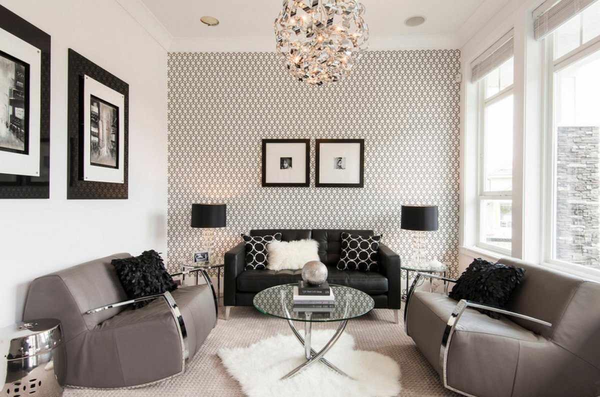 variante d'un beau papier peint intérieur pour le salon