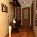 exemple d'un beau décor de couloir dans une maison privée photo