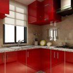 idee de o frumoasă fotografie de bucătărie în stil roșu