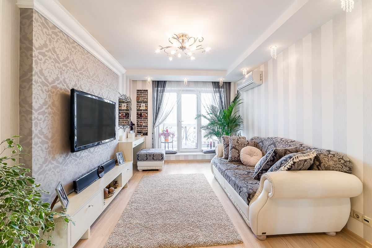 biến thể của giấy dán tường nội thất sáng cho phòng khách
