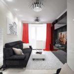 possibilité d'un intérieur insolite d'une chambre 15 m² photo