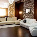 Một ví dụ về thiết kế khác thường của giấy dán tường cho ảnh phòng khách