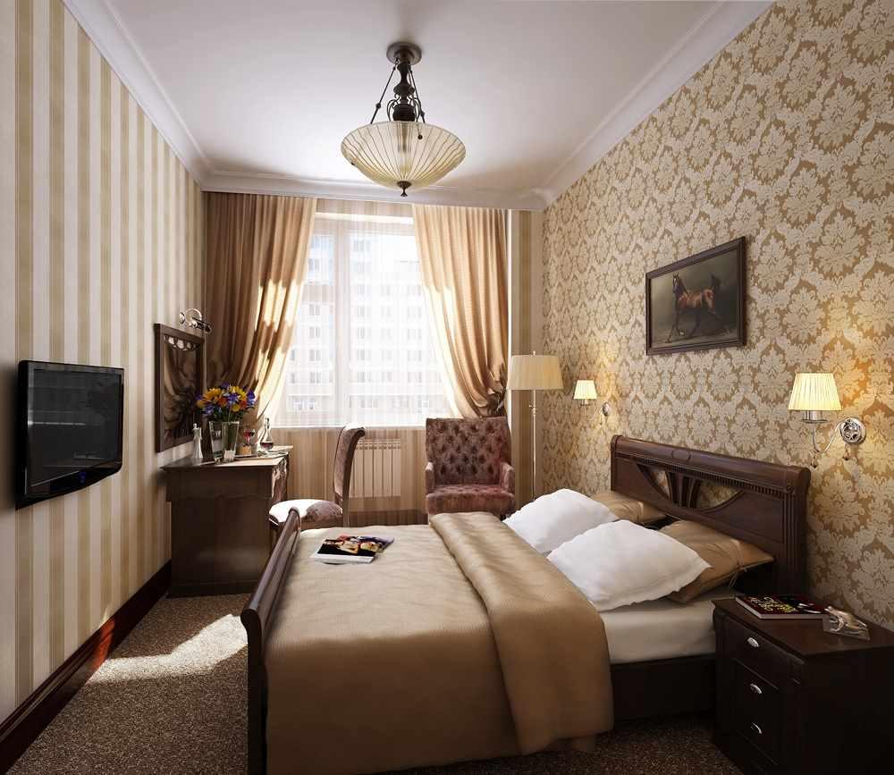 variante d'un beau design d'une chambre étroite