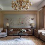 Ý tưởng trang trí giấy dán tường sáng cho bức tranh phòng khách