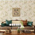 Un exemple d'un style léger de papier peint pour une photo de salon