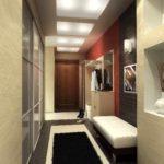 version du beau décor du couloir d'une chambre dans une maison privée photo
